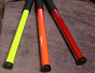 Crossing batons, glow sticks, reflective batons, reflective wands, call them what you want, they work great!